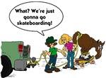 Skateboarding Horse
