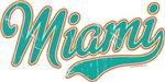 Miami Script Teal VINTAGE