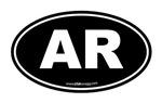 Arkansas AR Euro Oval BLACK