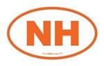 New Hampshire NH Euro Oval ORANGE