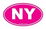 New York NY Euro Oval PINK
