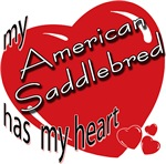 American Saddlebred T-shirts, Gifts: has my heart