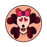 SKULL AND CROSSBONES - RED
