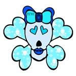 SKULL AND CROSSBONES - BLUE