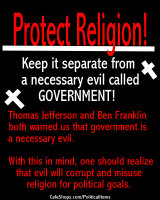 Protect Religion! Separate Church & State!
