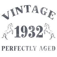 1932 Vintage w/ Horses