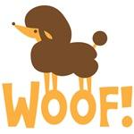 Cute little poodle dog WOOF