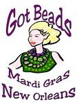 Got Beads? Mardi Gras Woman