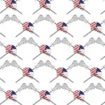 American Flag Lacrosse Helmet Wide Pattern