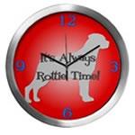 ROTTIE TIME Wall Clocks