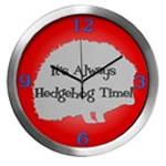 HEDGEHOG TIME Wall Clocks