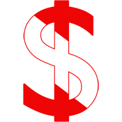 Scuba Flag Dollar Sign