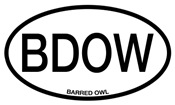 BDOW Barred Owl Alpha Code