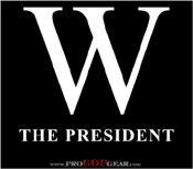 """W the President (Black)"""