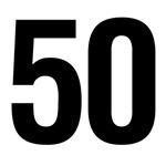 Number 50 Helvetica