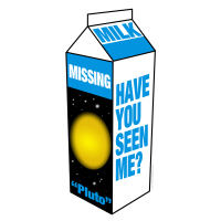 Pluto on Milk Carton