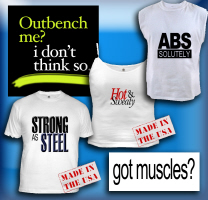 Muscle shirts; gym apparel