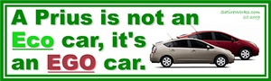 PRIUS IS AN EGO CAR