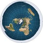 flat earth map