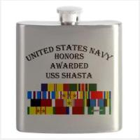 Custom Navy Ship Honors Flask & Shot glass M - Z