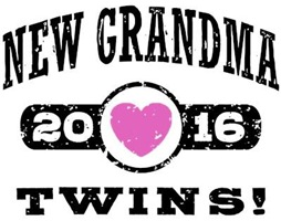 New Grandma Twins 2016 t-shirt
