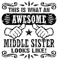 Awesome Middle Sister t-shirt