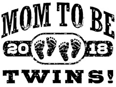 Mom To Be Twins 2018 t-shirts