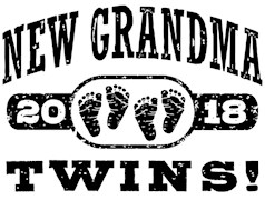 New Grandma Twins 2018 t-shirts