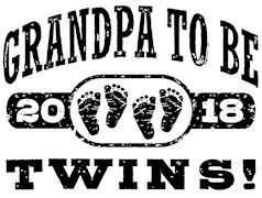 Grandpa To Be Twins 2018 t-shirts