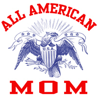 All Americam Mom t-shirts