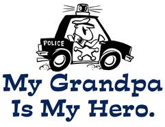 My Grandpa is my Hero (Police) t-shirt