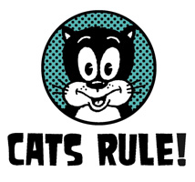 Cats Rule! t-shirts