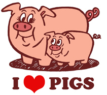 I Love Pigs t-shirt