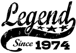 Legend Since 1974 t-shirt