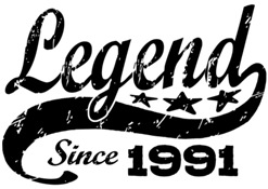 Legend Since 1991 t-shirt