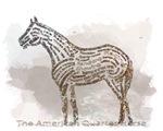 American Quarter Horse in Typograhy