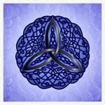 Dark Blue Celtic Trinity Knot