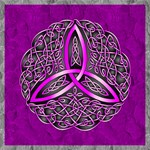 Fuchsia Celtic Trinity Knot