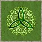 Sage Celtic Trinity Knot