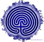 Blue Meis Galicia Labyrinth