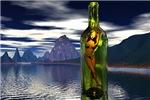 Woman in bottle