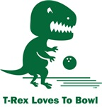 T-Rex Loves To Bowl