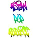 Asian Pop Addict Graffiti T-Shirts