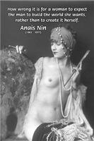 Anais Nin Creative Quote: Naked Woman Art
