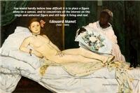 Impressionist Artist Manet Olympia Nude Portrait