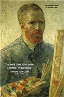 Vincent Van Gogh self Portrait Painting Quote