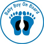 Baby Boy On Board White