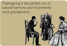 Funny Thanksgiving Cards: Incoherent Grandparents