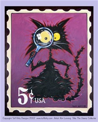 STAMP COLLECTOR CAT