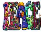 Peace Word Art Birds and Butterflies